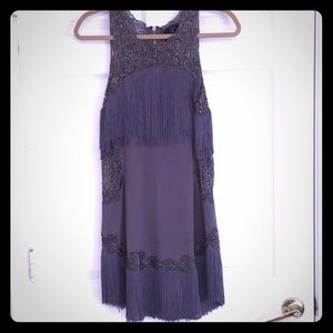 X by NBD fringe dress in eggplant color size small